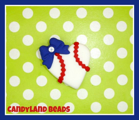 Baseball Bling Heart