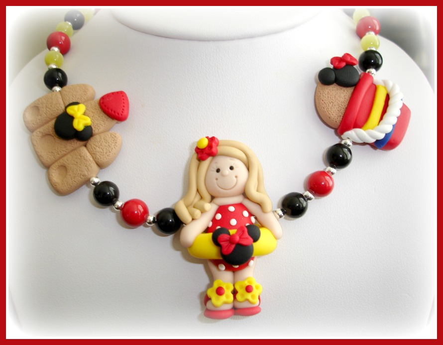Beach Vacation Minnie Mouse Necklace