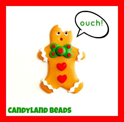 Bitten Gingerbread Cookie