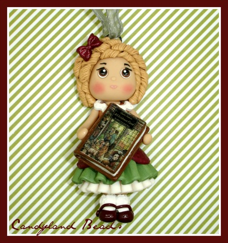 Book Club Girl Ornament - Any Book