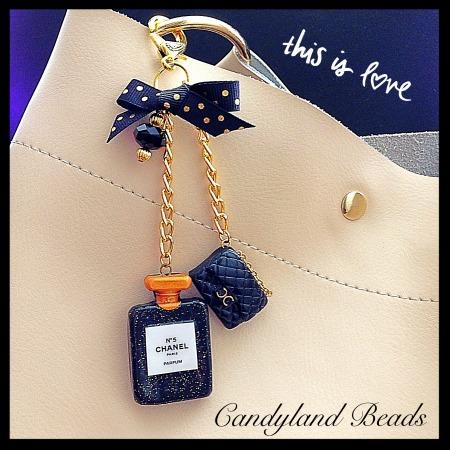 So Glam Chanel Perfume/Purse Charm Set