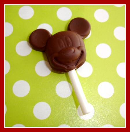Chocolate Mickey Mouse Lollipop