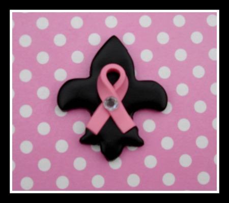 Cure Dat Breast Cancer Fleur de Lis