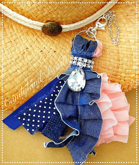 Denim & Diamonds Planner Tassel