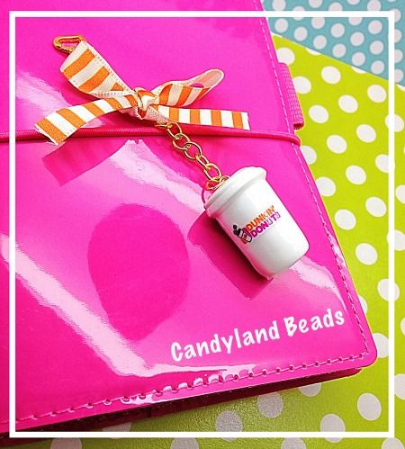 Dunkin' Donuts White Coffee Cup Planner Charm