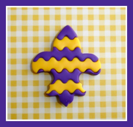 Fleur de Lis Chevron - Any Colors