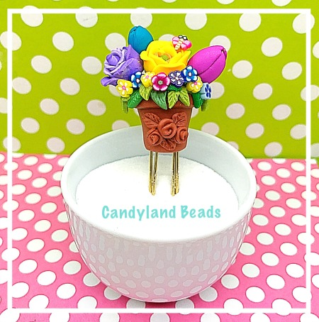 Spring Flower Pot Clip