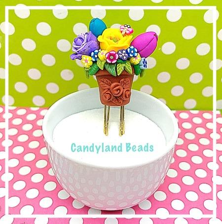 Spring Flower Pot Clip