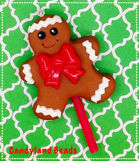Gingerbread Man Lollipop Sucker