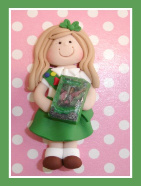 Girl Scout with Cookie Box