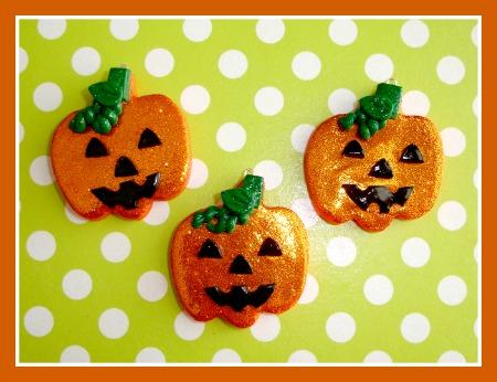 Glitter Jack O Lantern Pumpkin