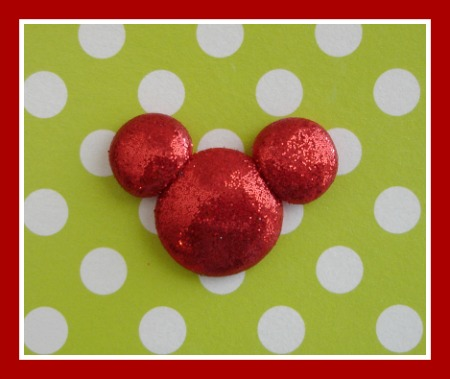 Glitter Minnie Head - Any Color