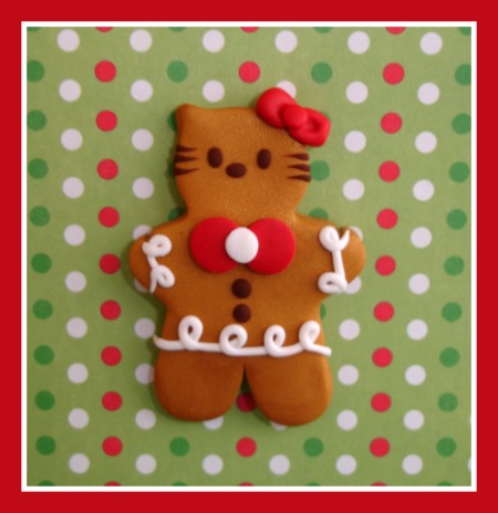Hello Kitty Gingerbread Cookie