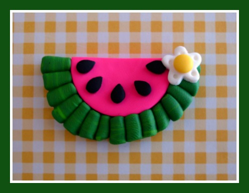 Ruffle Watermelon Slice - M2M Mud Pie