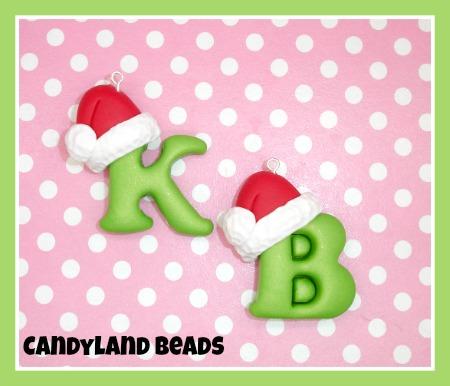 Christmas Santa Hat Initials