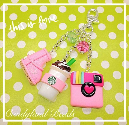 'She's So Basic'  Keychain/Purse Charm