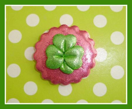 Hot Pink Glitter Shamrock