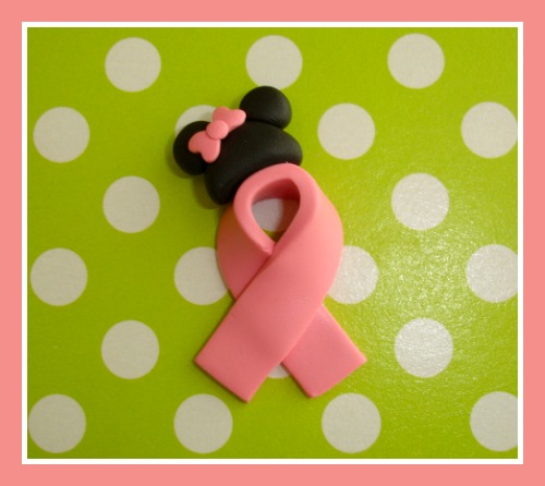 Minnie Mouse  Cancer Support Ribbon