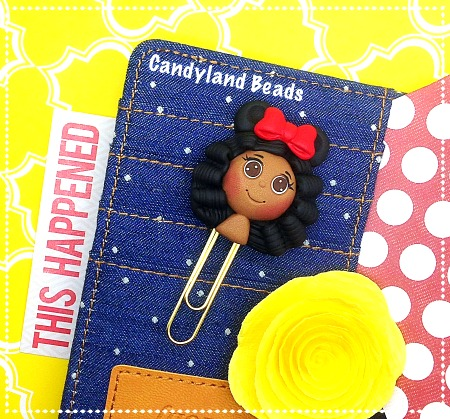 Minnie Mouse Girl Planner Clip