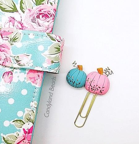 Pastel Pumpkins Planner Clip