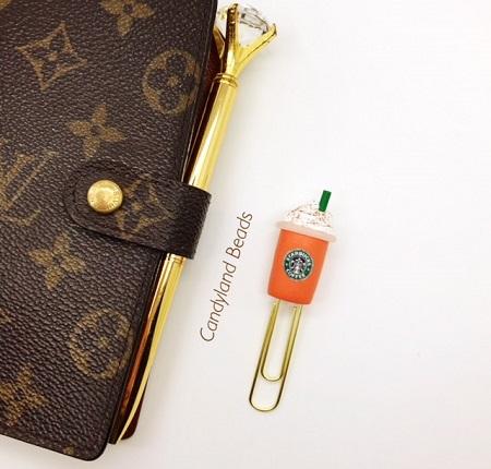 Starbucks Pumpkin Spice Planner Clip
