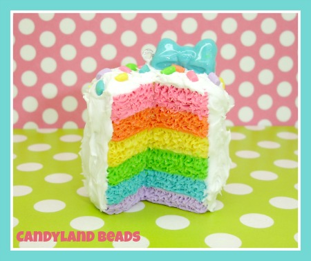 Frosted Rainbow Cake