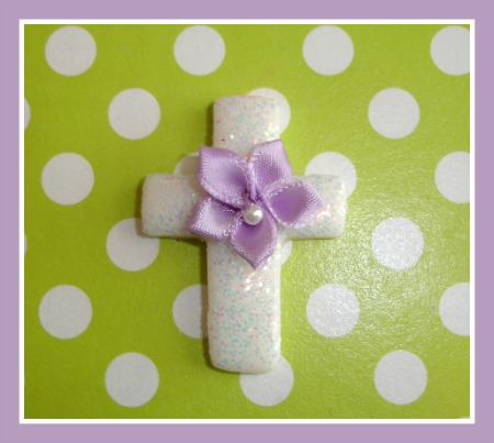 Ribbon Glitter Cross