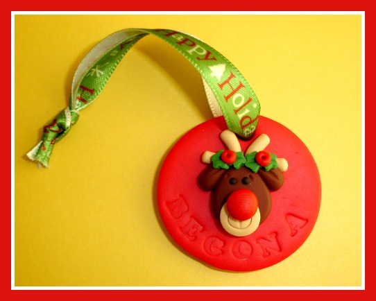 Personalized Rudolph Christmas Ornament