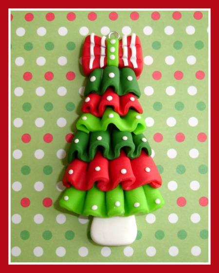 Ruffle Polka Dot Christmas Tree