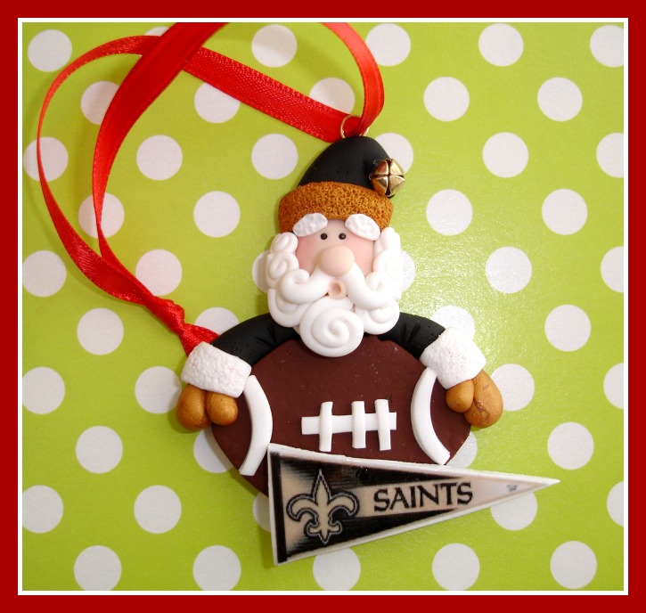 Custom Santa Sports Team Ornament