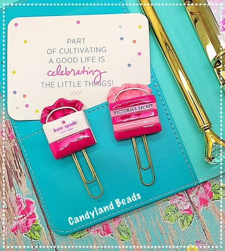 Shopping Bag Planner Clip