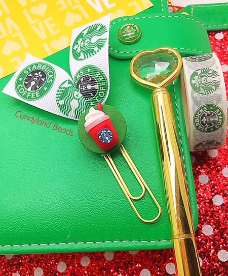 Starbucks Ribbon Clip