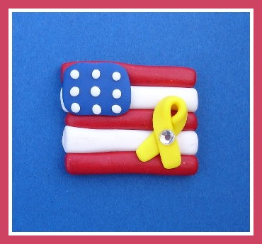 Support Ribbon American Flag