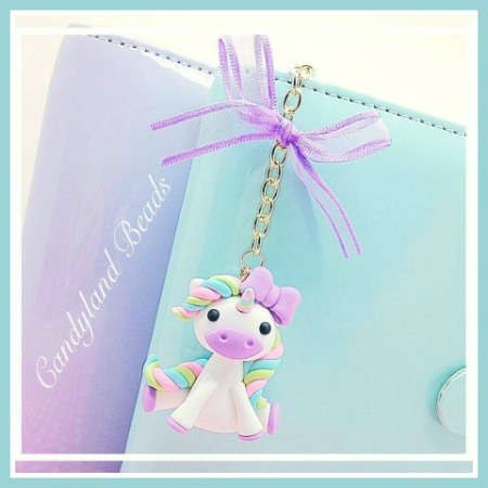 Pastel Unicorn Planner Charm