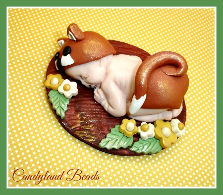 Woodland Fox Baby Cake Topper