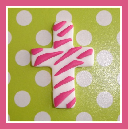 Hot Pink Zebra Cross