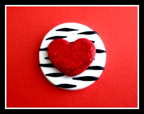 Zebra Glitter Valentine Heart
