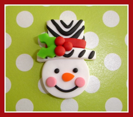 Zebra Snowman Head M2M